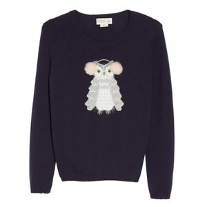 Kate Spade Wool Owl Sweater Pullover